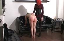 Emo girl gets spanked hard